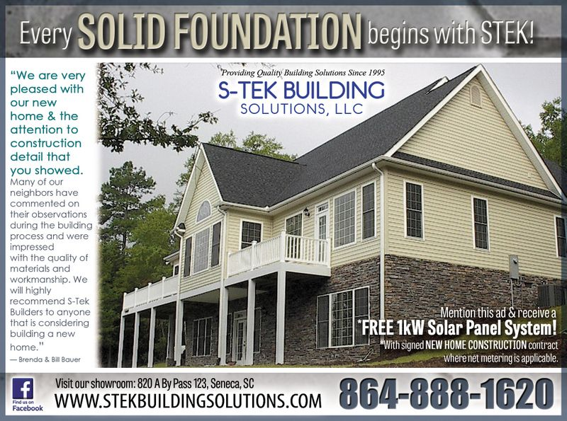 Every solid foundation begins with S-Tek! New home construction from a trusted name in home building.