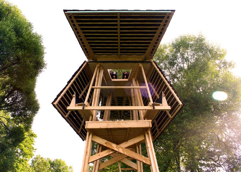 The Wild Thing A Treehouse Like Getaway By Riga Technical University Humble Homes Cabin Tree House Scandanavian Design
