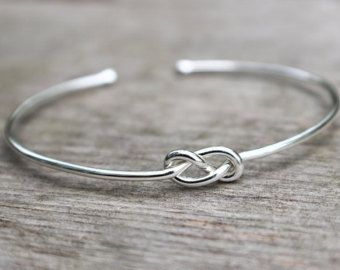 Sterling Silver Bracelet Infinity Bridesmaid Jewelry Set Or Single Tie The Knot