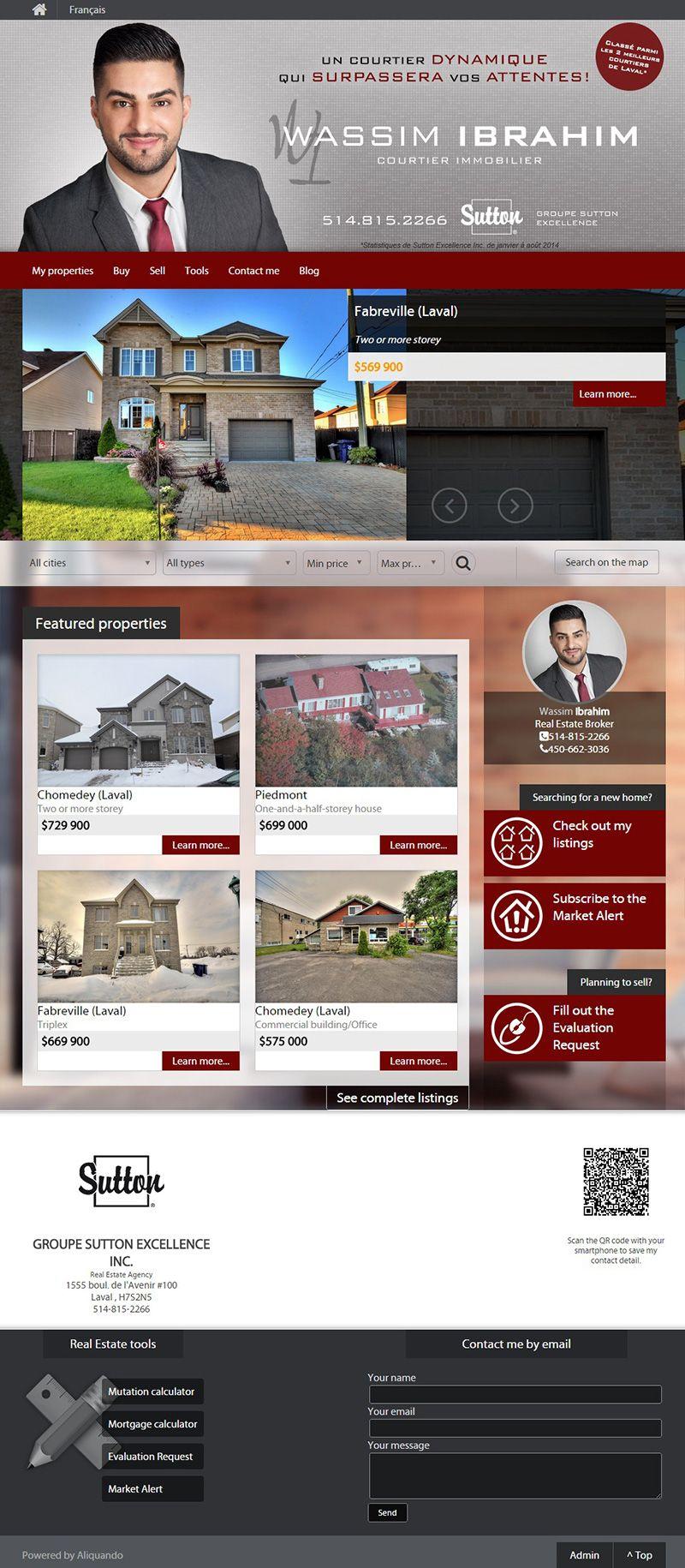 Wassim Ibrahim - courtier immobilier #SUTTON #Aliquando #immobilier #vendre #acheter #maison #habitation http://wassimibrahim.com/