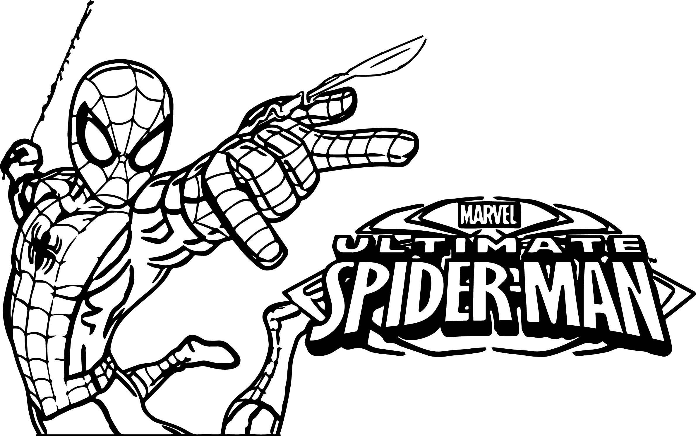 Crayola Ultimate Spiderman Mini Coloring Pages Learning
