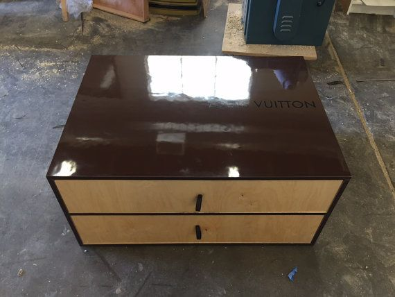 Louis Vuitton Inspired Two Drawer Wood Shoe Box & Louis Vuitton Inspired Two Drawer Wood Shoe Box Storage   Pinterest ...
