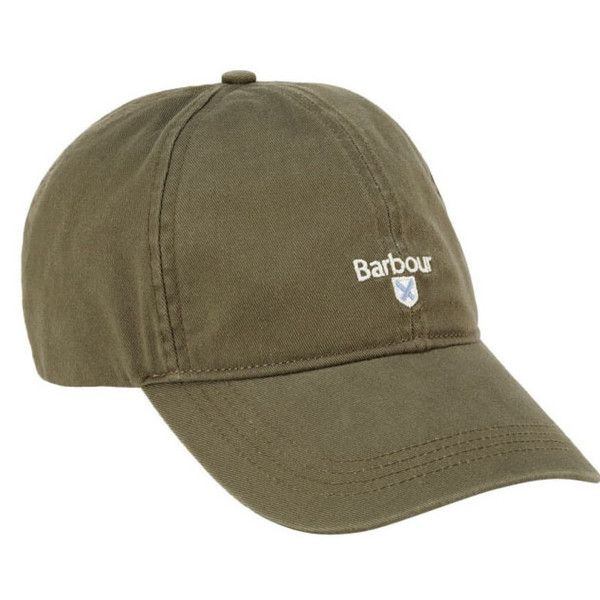 Cascade Baseball Cap in Green - Olive Barbour