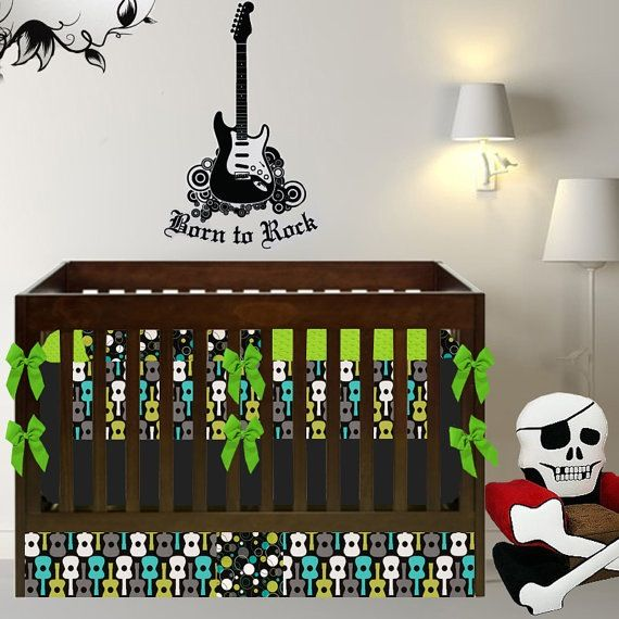 Rock And Roll Nursery Crib Sets Baby Crib Bedding Baby