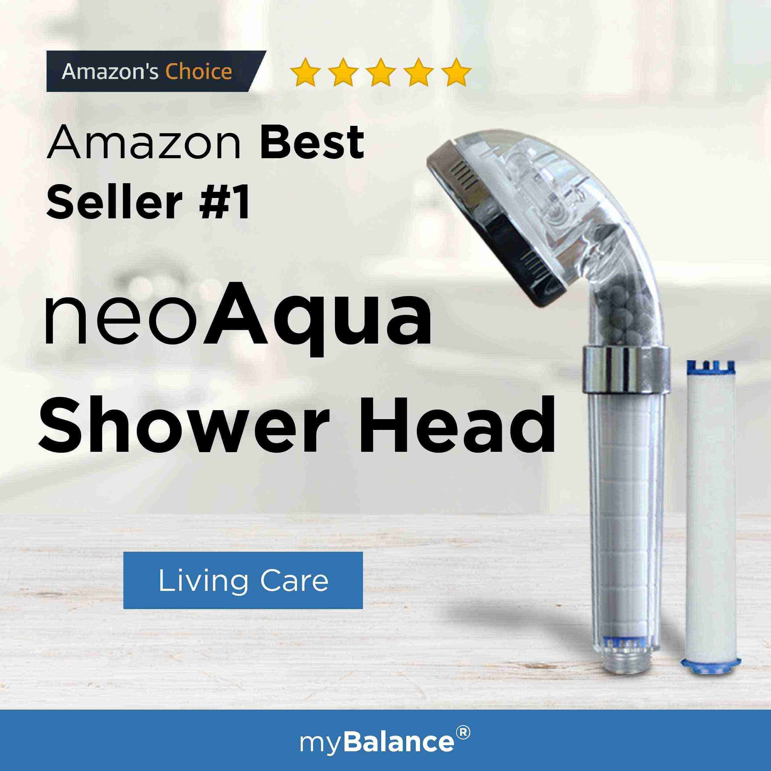 Neo Aqua Shower Head Provides A 2 Step Filter That Filters