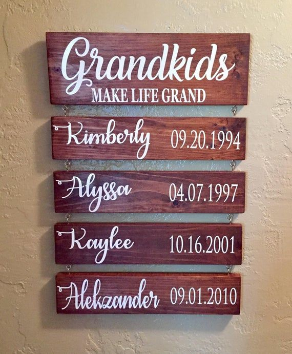 Free Shipping! Grandkids MAKE LIFE GRAND,Grandparent Gift,Custom Family Signs,Grandkids Signs,Grandpa Gift,Grandchildren,Grandma Gift Idea #grandpagifts