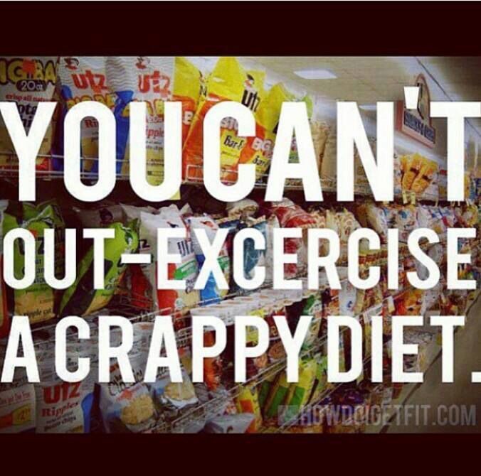 You can't out-exercise a crappy diet