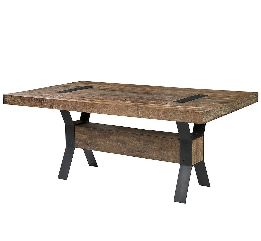 Industrial Modern Dining Room Table: Industrial Dining Table 72""