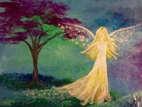 Angel Acrylic Painting Easy Step By Step Beginner Tutorial