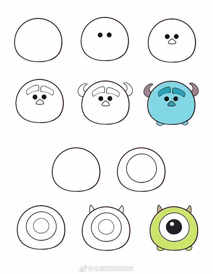 My Weblog How To Draw Tsum Tsum Doodle Art For Beginners Cute Easy Drawings Easy Doodle Art