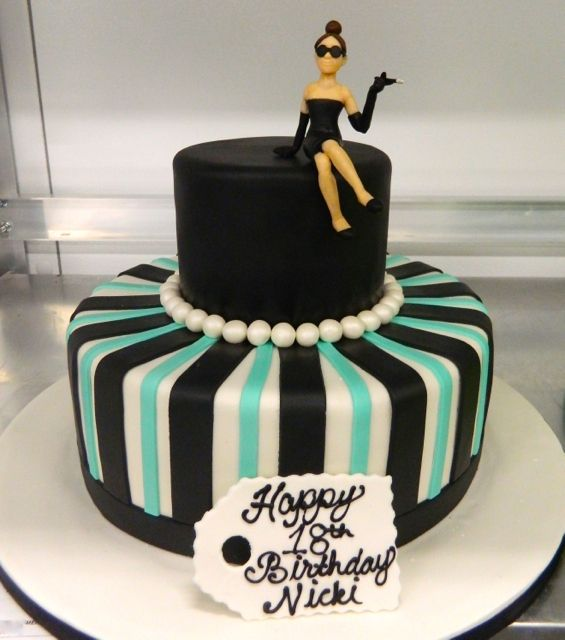 Classy 2-tier For This Birthday Girl! #carlosbakery