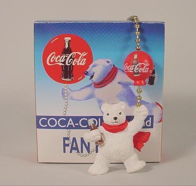 Coke coca cola polar bear with balloon ceiling fan lamp chain pull coke coca cola polar bear with balloon ceiling fan lamp chain pull aloadofball Images