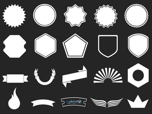 أشكال مميزة للشعارات Shape And Form Shapes Photoshop