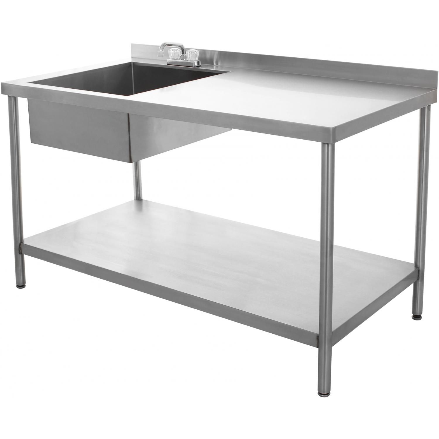 BBQGuys.com 30x60 Stainless Steel Utility Table With Sink And Faucet : BBQ  Guys
