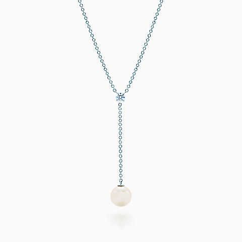 Tiffany enchantfleur pendant tiffany white gold and pearls necklaces for women mozeypictures Choice Image