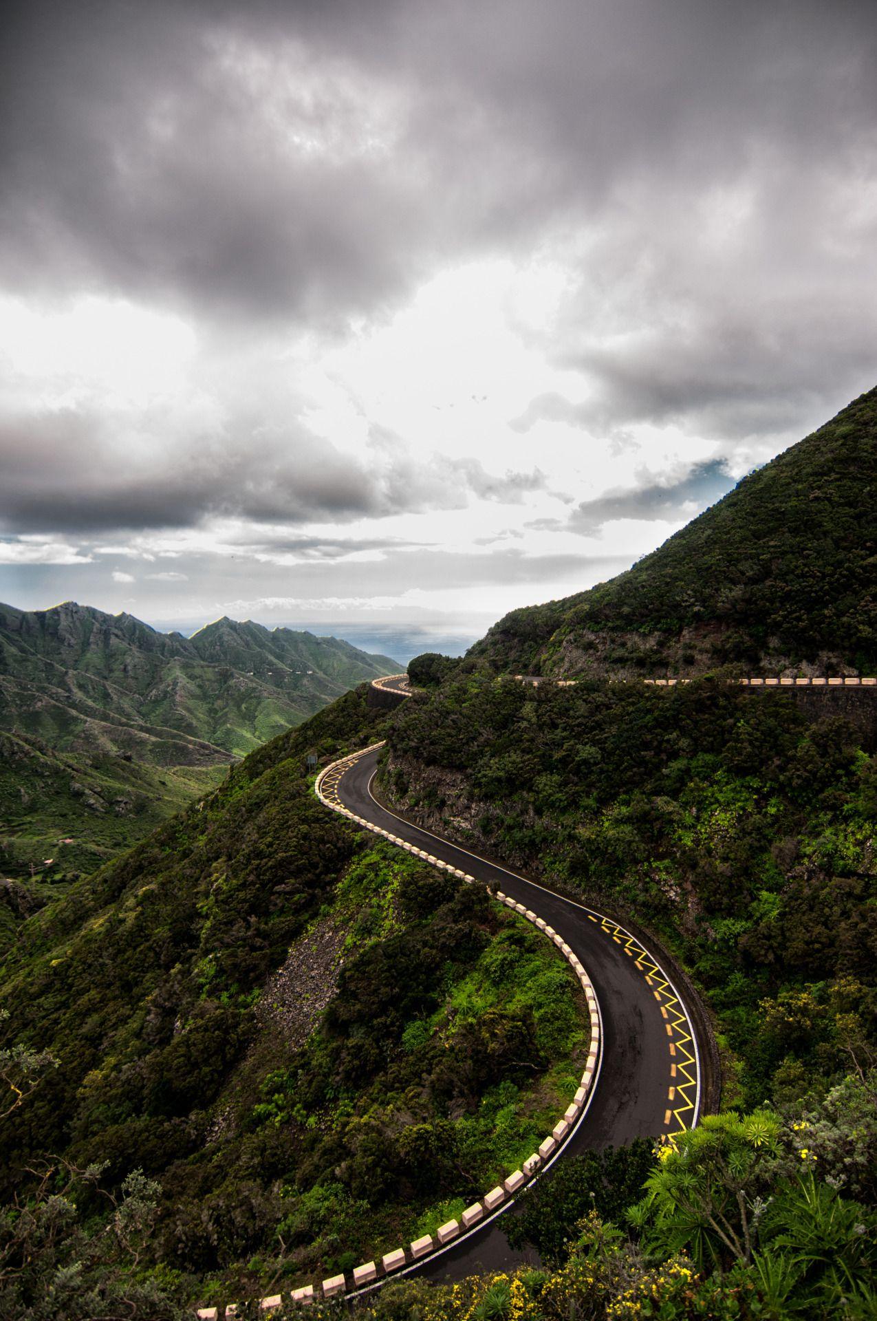 mountain road, tenerife, canary island | travel photography