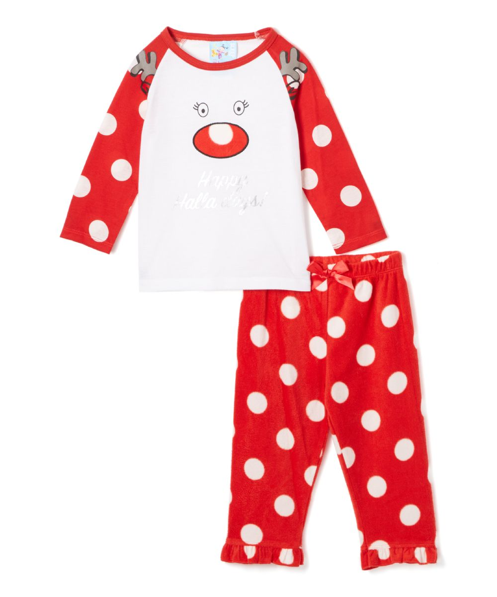 Red & White \'Happy Halla Days\' Pajama Set - Infant & Toddler | Products