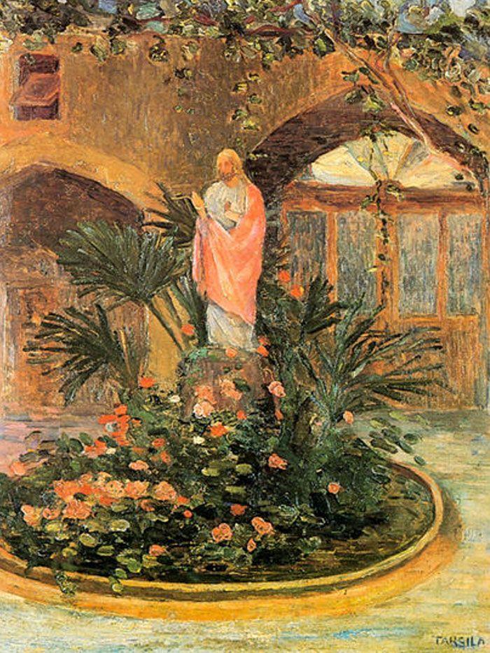 Tarsila Do Amaral Patio Com Coracao De Jesus 1921 Com Imagens