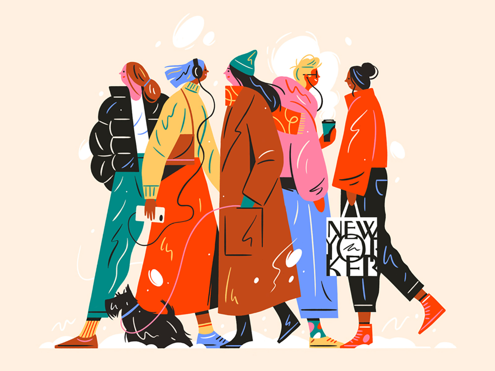 An inspired illustration from our recent vacation abroad - I love spending time in New York!