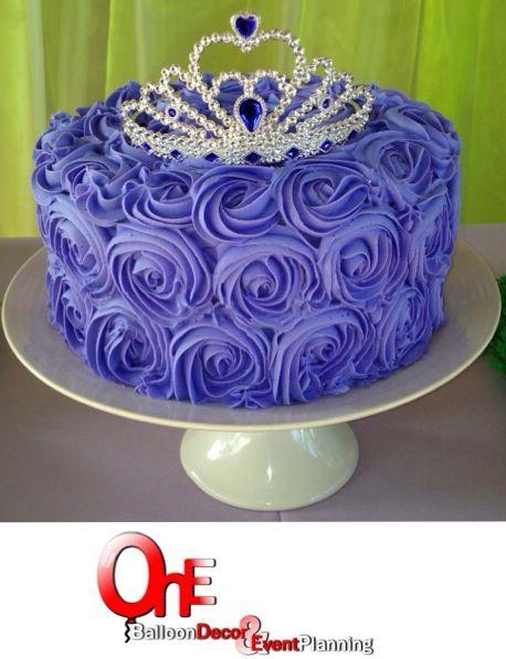Rosette Cake Purple Princess Cakesby One Pinterest Cake