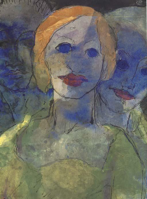 Phantasie de Emile Nolde (1867-1956, Germany)