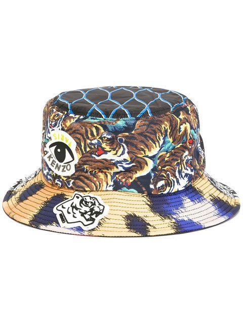KENZO multi icon bucket hat.  kenzo  hat 6768c635bef