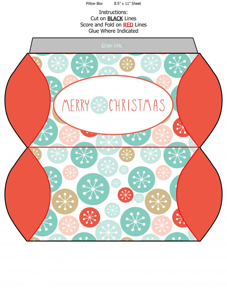 Free Printable Christmas Pillow Boxes Tips And Hacks Pinterest