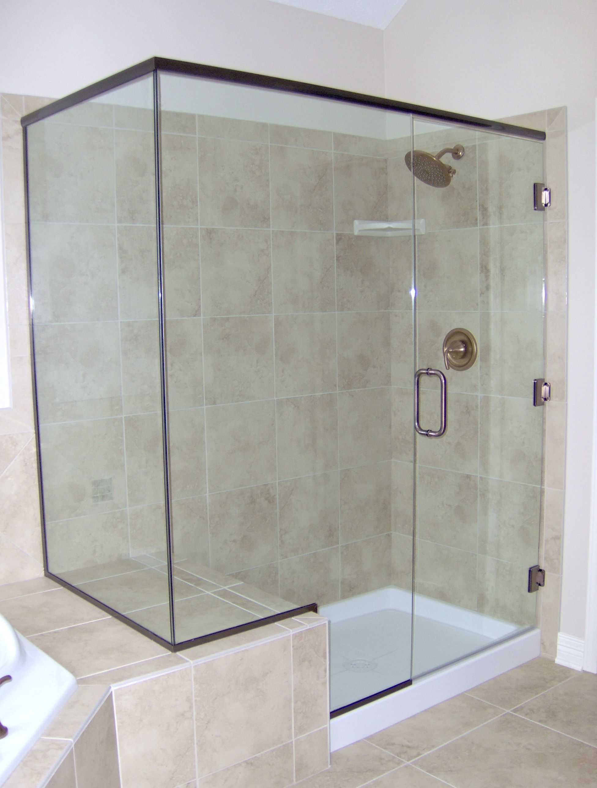 Heavy Glass Shower Enclosure With A Euro Header Glass Shower Enclosures Shower Enclosure Shower Doors