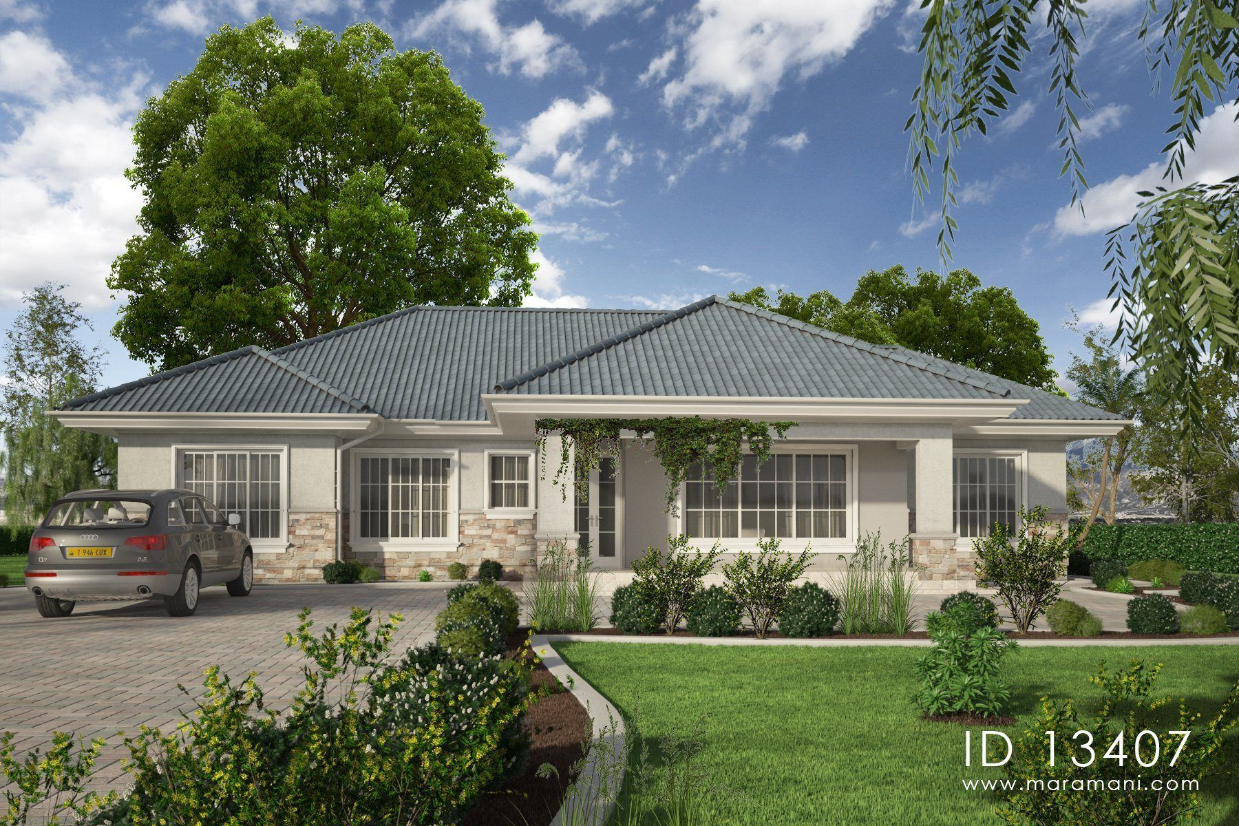 3 Bedrooms Country House Id 13407 House Designs By Maramani Architectural House Plans Traditional House Plans Beach House Plans