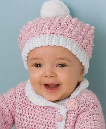 CrochetKim Free Crochet Pattern | Victorian Rose Baby Hat