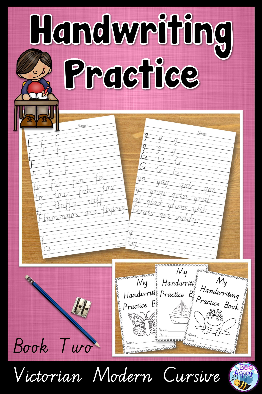 Australian Handwriting Practice Book 2 Victorian Modern Cursive Handwriting Practice Handwriting Books Cursive Practice