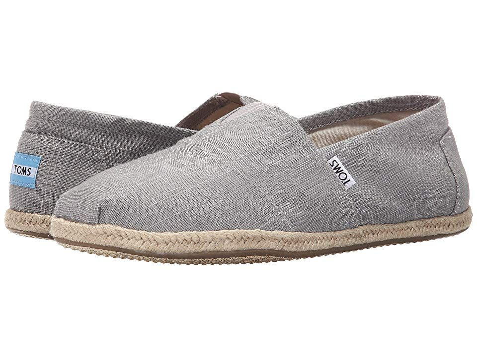 TOMS Seasonal Classics Grey Linen Mens Slip on Shoes With every pair of shoes you purchase TOMS will give a new pair of shoes to a child in need One for One The TOMS Seas...