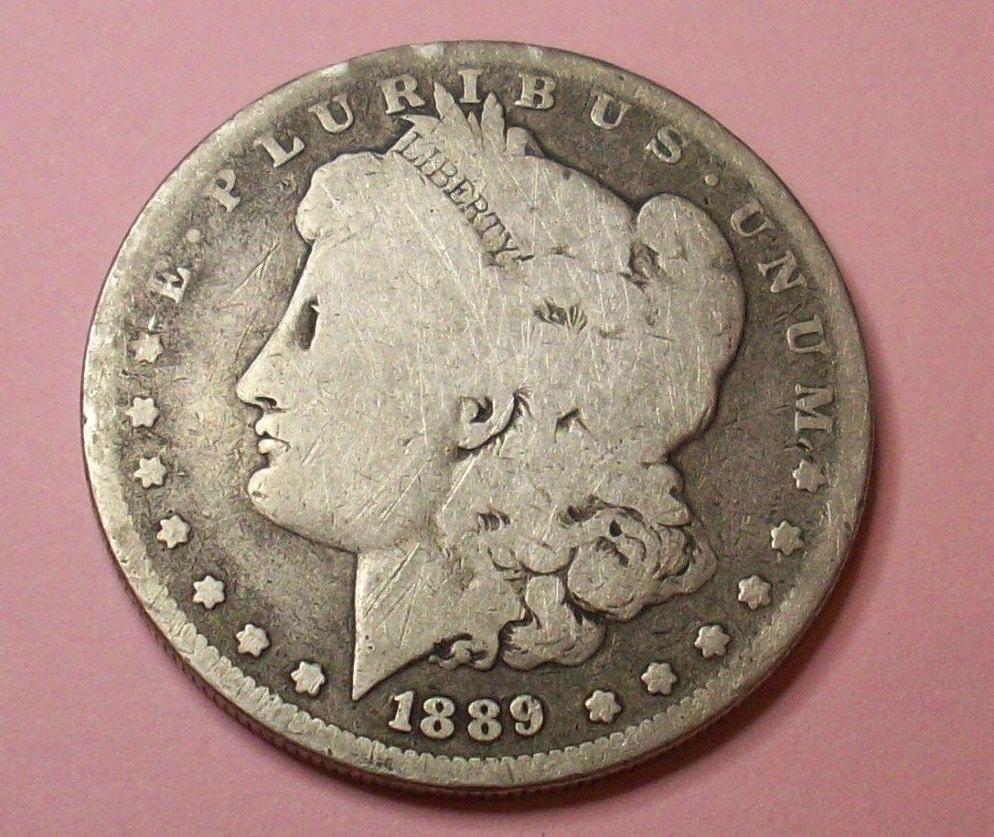 Coins 1889 O NEW ORLEANS MINT MORGAN LIBERTY SILVER DOLLAR LOT COIN