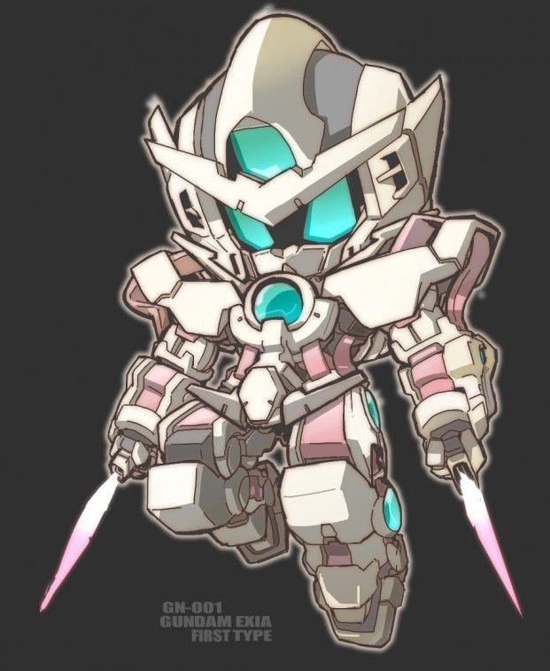 日本插畫家7 2號q版機械人反作品分享 Gundam Art Gundam Exia