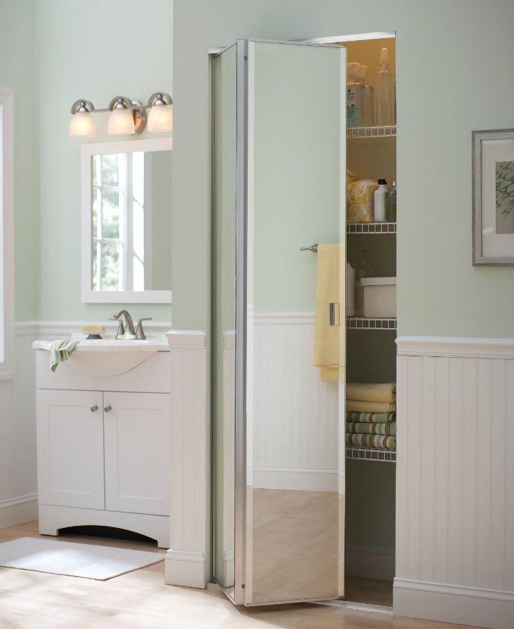 Frameless Beveled Chrome 3d Mirror Closet Doors Closet Doors Wardrobe Doors