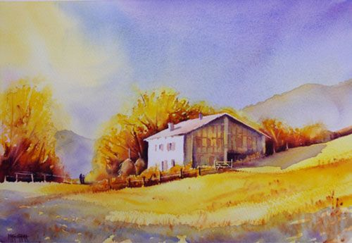 aquarelles paysages aquarelle marichalar watercolor aquarelles pinterest paysage. Black Bedroom Furniture Sets. Home Design Ideas