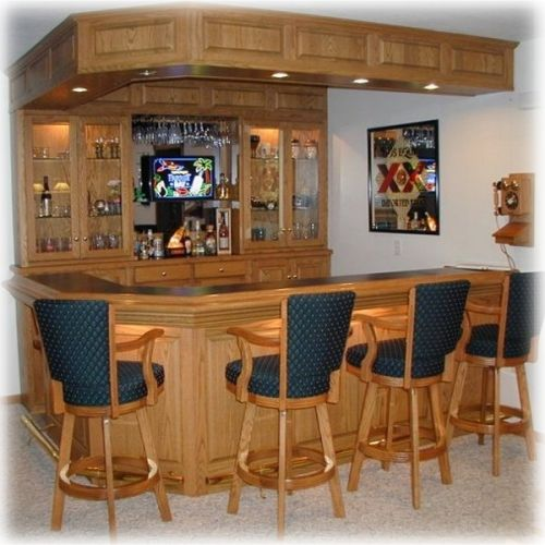 Home bar on pinterest home bar designs home bars and for Cost to build a bar in basement