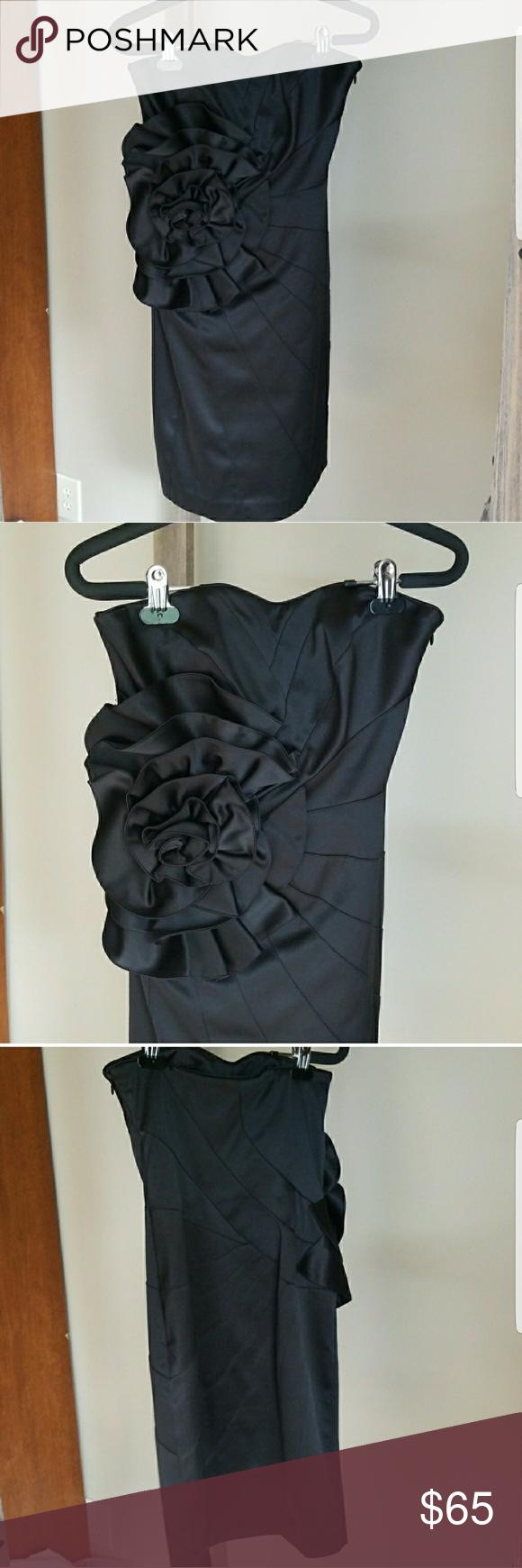 whbm black ruffle dress taffeta dress black ruffle and