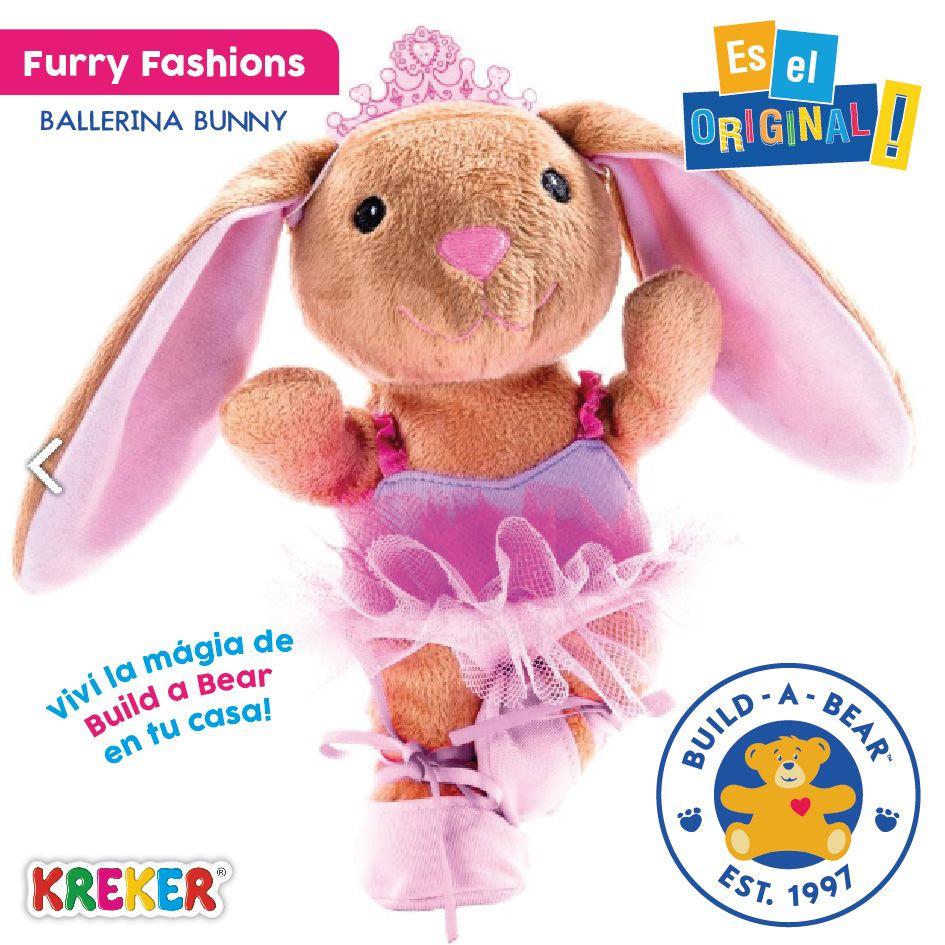Furry Fashions #BuildABear Incluye 1 peluche para rellenar, 1 ...