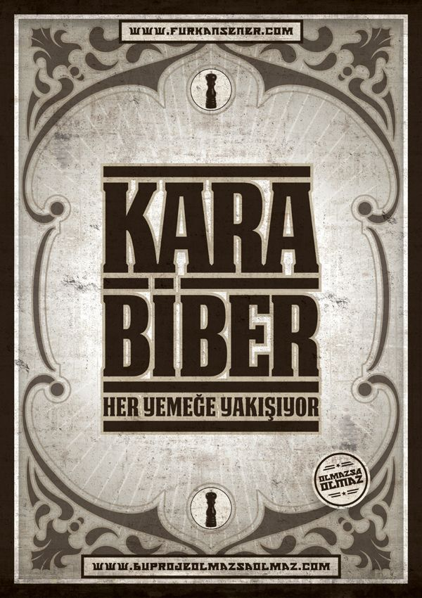 24 / karabiber by Olmazsa Olmaz, via Behance