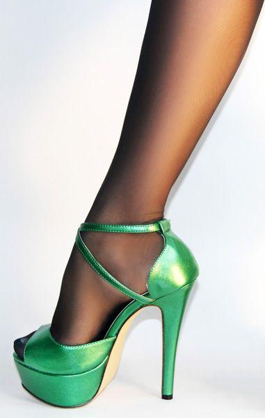 Zapatos verdes para San Valentín Tacón de aguja formales Toogoo(r 4s2IKl67t