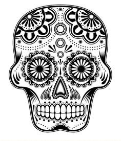 Mexican Crafts – Day of the Dead Skull Coloring Pages | 276x236