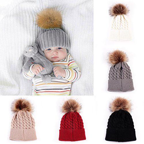 219fe0f1f Oenbopo Baby Winter Warm Knit Hat Infant Toddler Kid Croc... | Baby ...