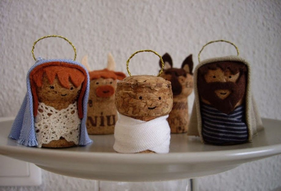 Nacimiento navide o con corchos reciclados christmas 3 - Belen navideno manualidades ...