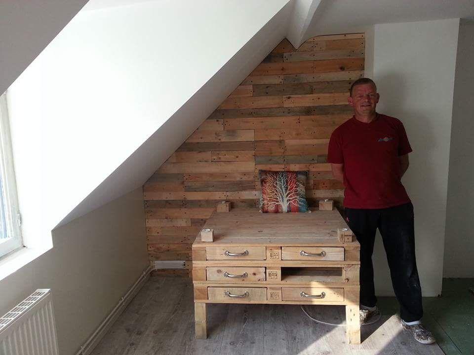 Bedroom Furniture Made From Pallets pallet bedroom suite / chambre en palette • pallet ideas