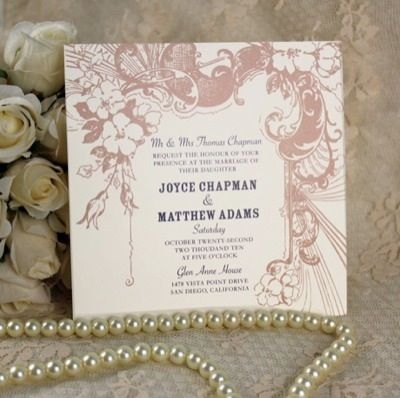 17+ images about Vintage Type Wedding Invitations on Pinterest ...