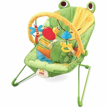 Fisher Price Baby Infant Bouncer Seat Chair In Frog Green