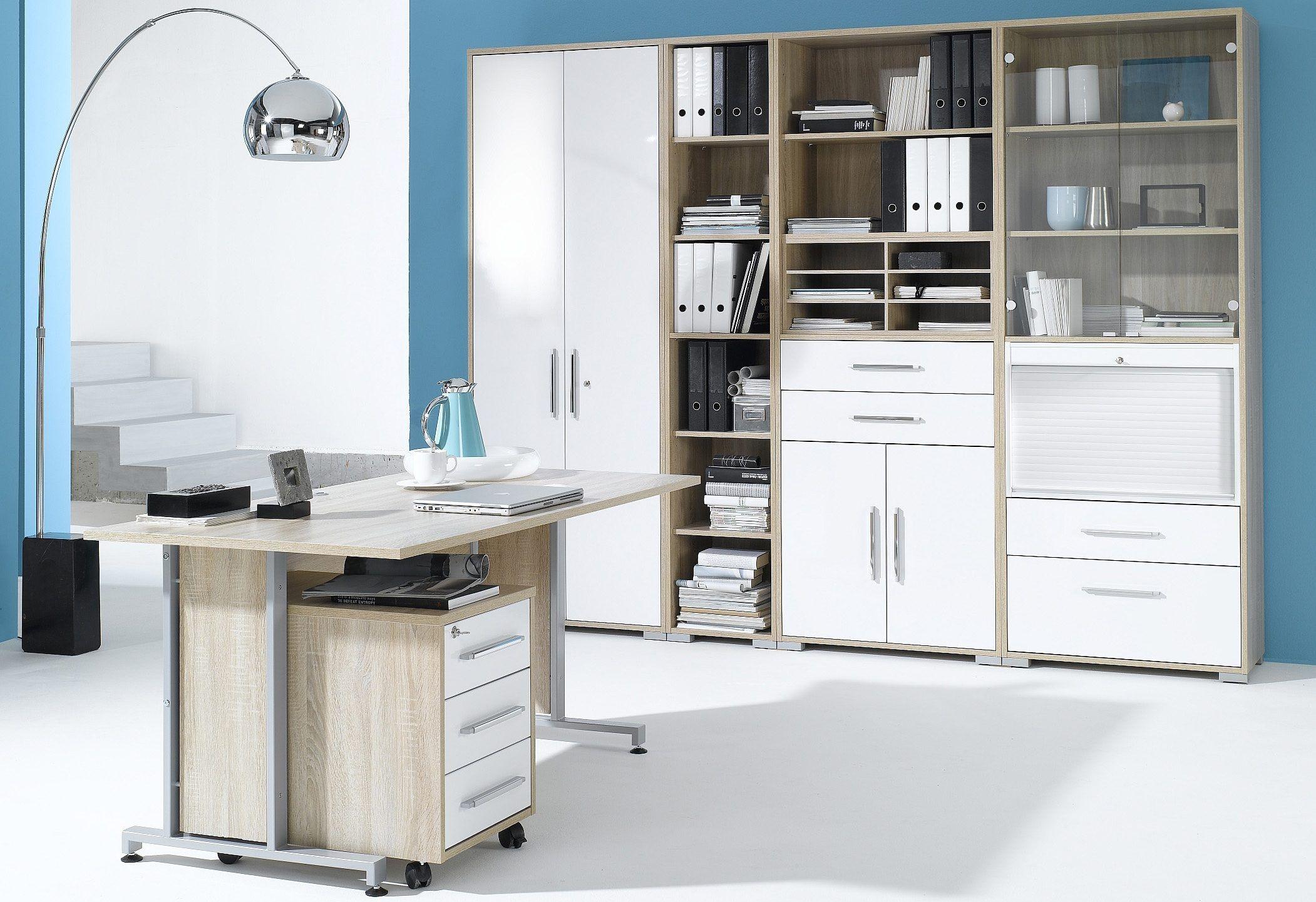 MAJA Möbel Büromöbel-Set (6-tlg.) »1201« weiß, Hochglanz Jetzt ...