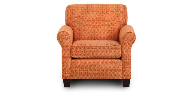 Juliet Chair Adds A Fresh Tangerine Touch 499 Sofa Mart Livingroom Chair Gathering Room Purchase Furniture