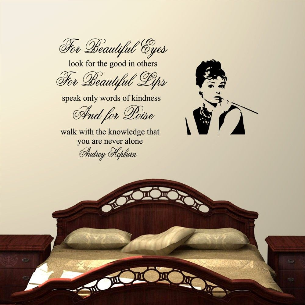 latest posts under bedroom quotes design ideas 2017 2018 for beauiful eyes audrey hepburn wall decal quote sticker